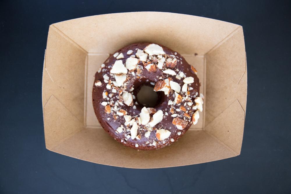Vegan brownie donut