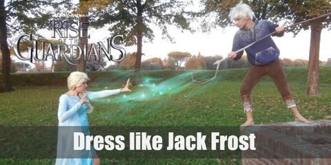 """Jack Frost costume itself consists of a hoodie, pants, a shepherd's staff, and a wig for added effect""."