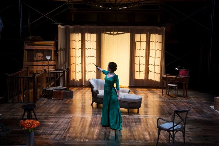 "Robert Thomson's lighting design for the production of ""Hedda Gabler"" at the Hartford Stage"
