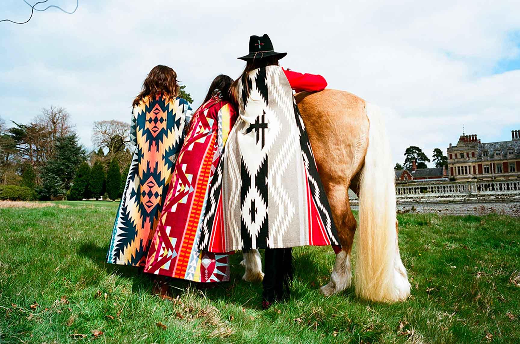 JESSIE WESTERN - coat Blanket