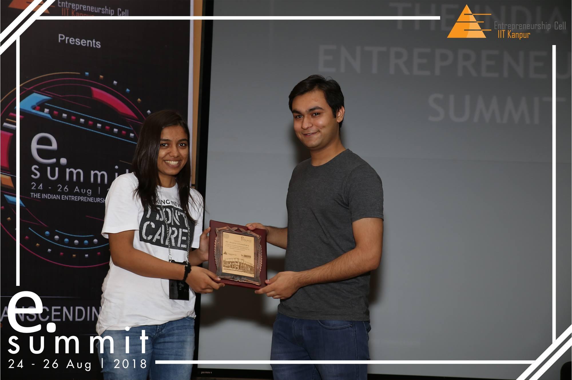 Anand Chowdhary receiving an award