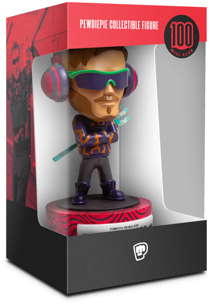 Pewdiepie 100 mill club figure boxed angled
