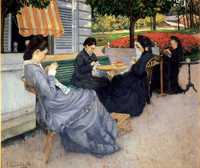 'Portraits in the Countryside'(Caillebotte's mother along with his aunt, cousin, and a family friend) by Gustave Caillebotte (1848–1894) in 1876, oil on canvas