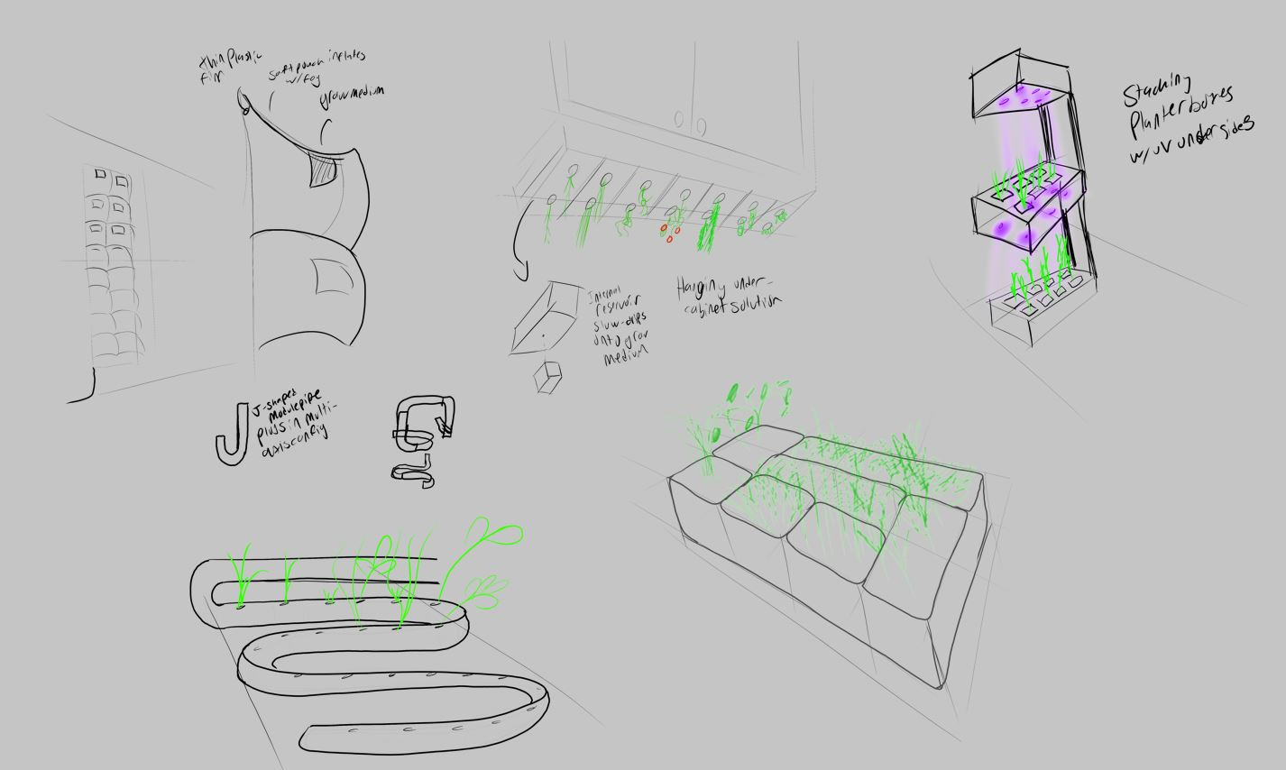 Concept sketches for upgrow