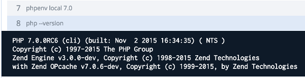 Codeship has PHP7RC6 available