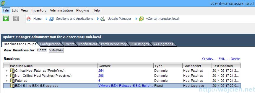 ESXi update - vSphere Update Manager 5