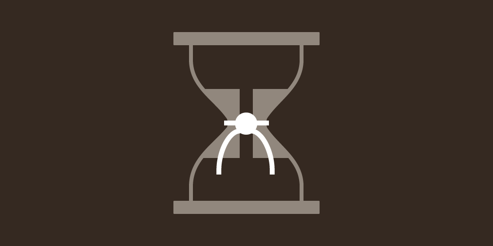 An icon that's a blend between a Chemex brewer and an hourglass