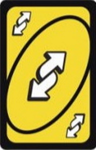 50th Anniversary Edition Yellow Uno Reverse Card