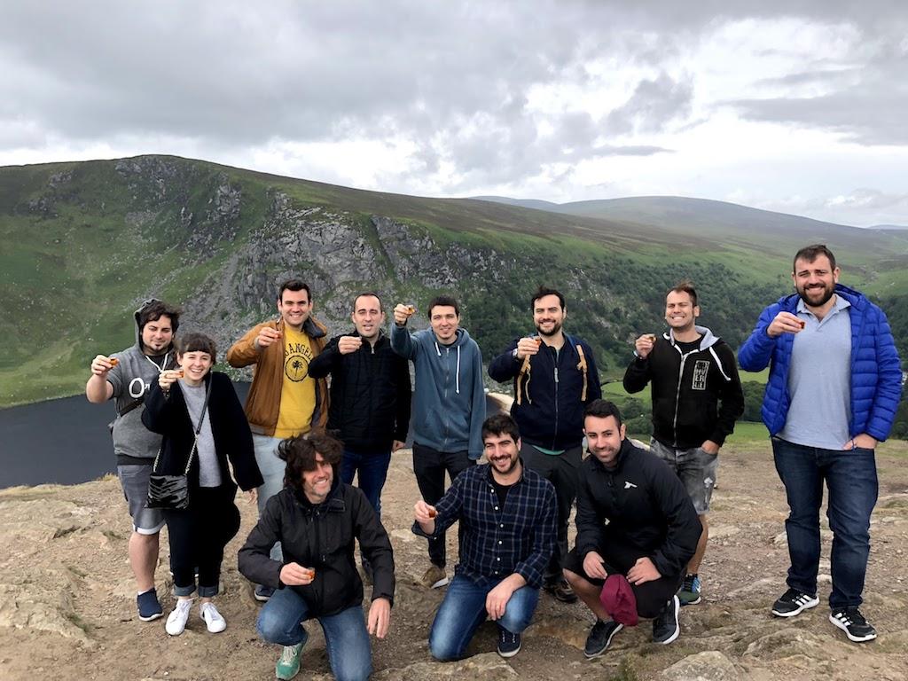 A shot of Irish whiskey in Glendalough - Sláinte!