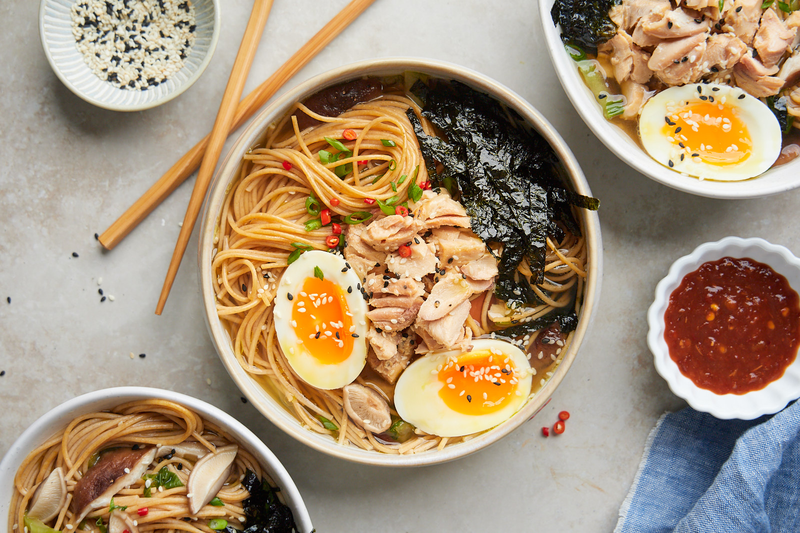 Quick and Easy Miso Noodle Soup With Salmon