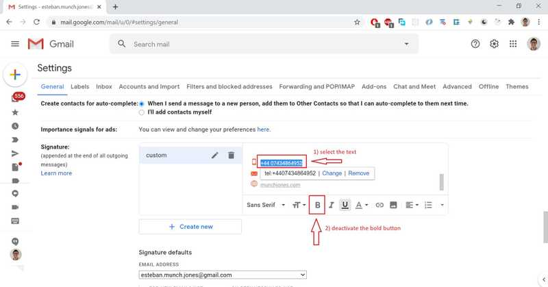Tweak the look directly on the Gmail site