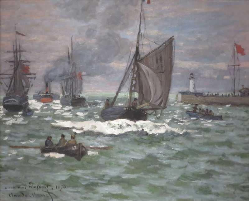The Entrance to the Port of Le Havre by Claude Monet, c. 1867-68, Norton Simon Museum