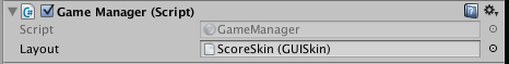 Game Manager with skin applied to layout