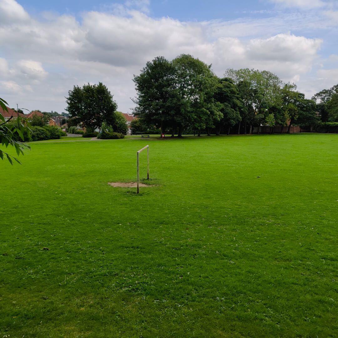 Westroyd Park football goal