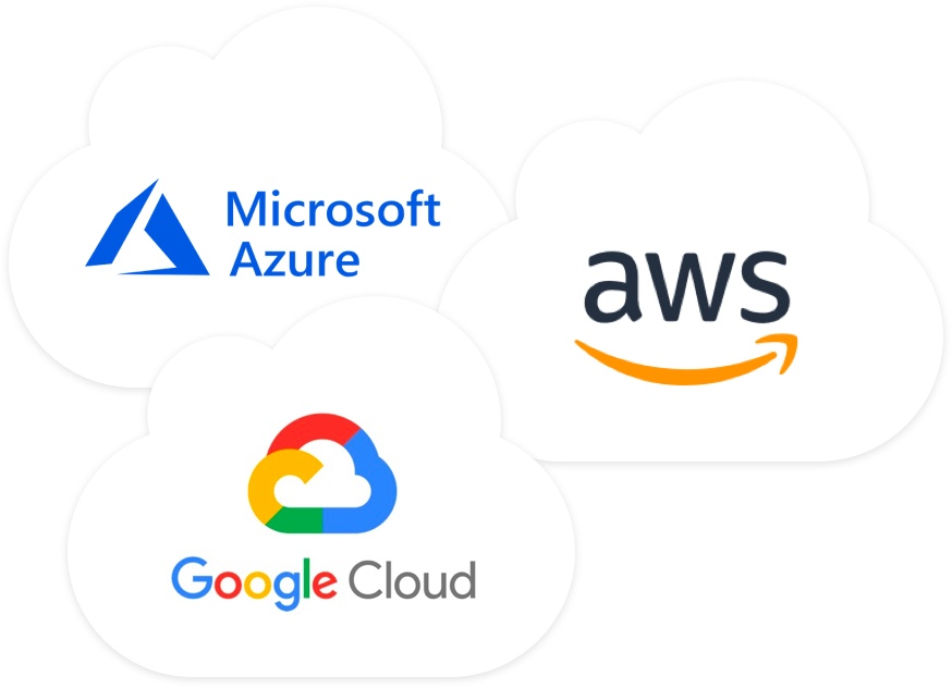 Logos of cloud platforms that work with Templarbit