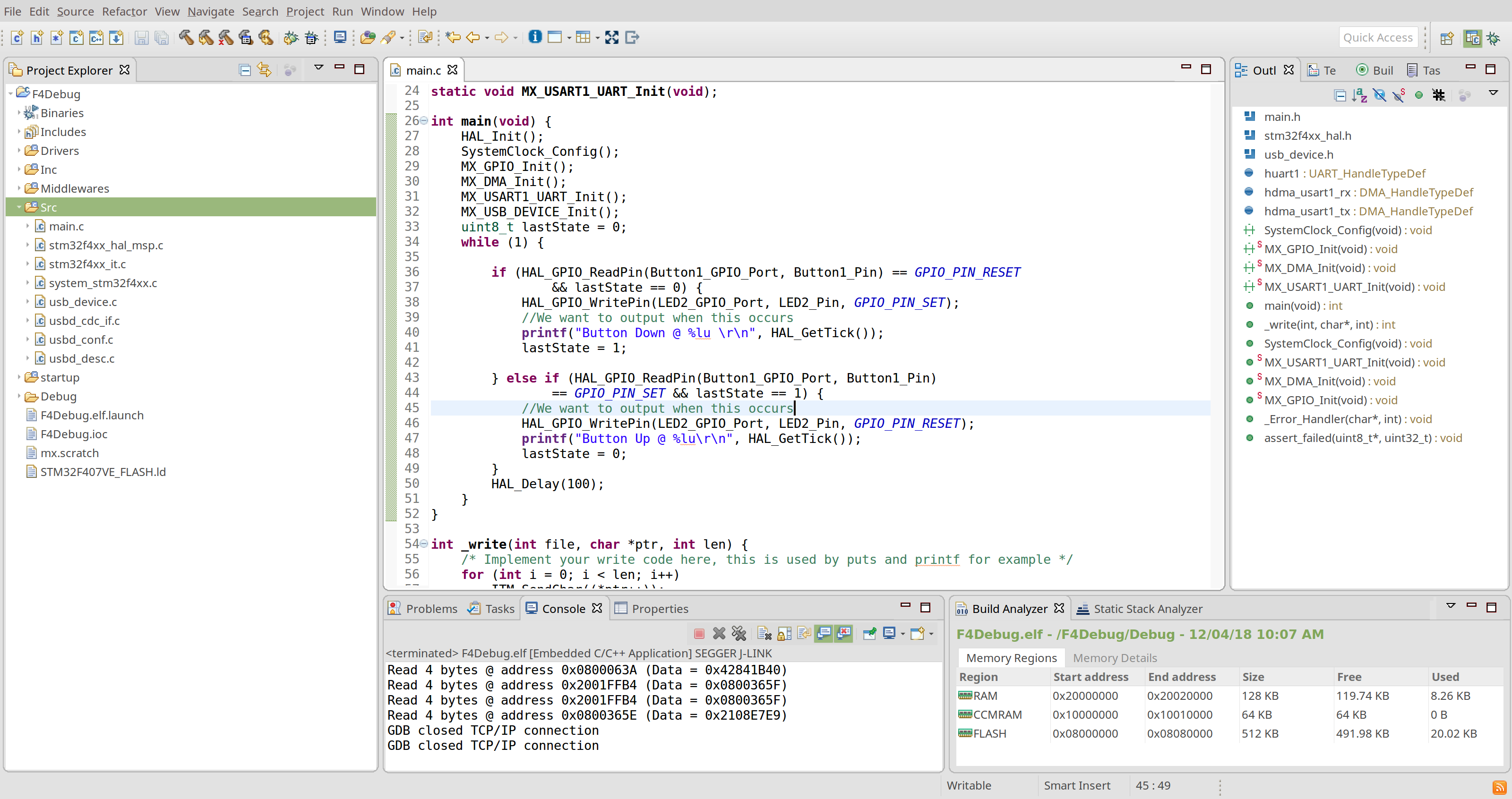 Stm32 Example Code