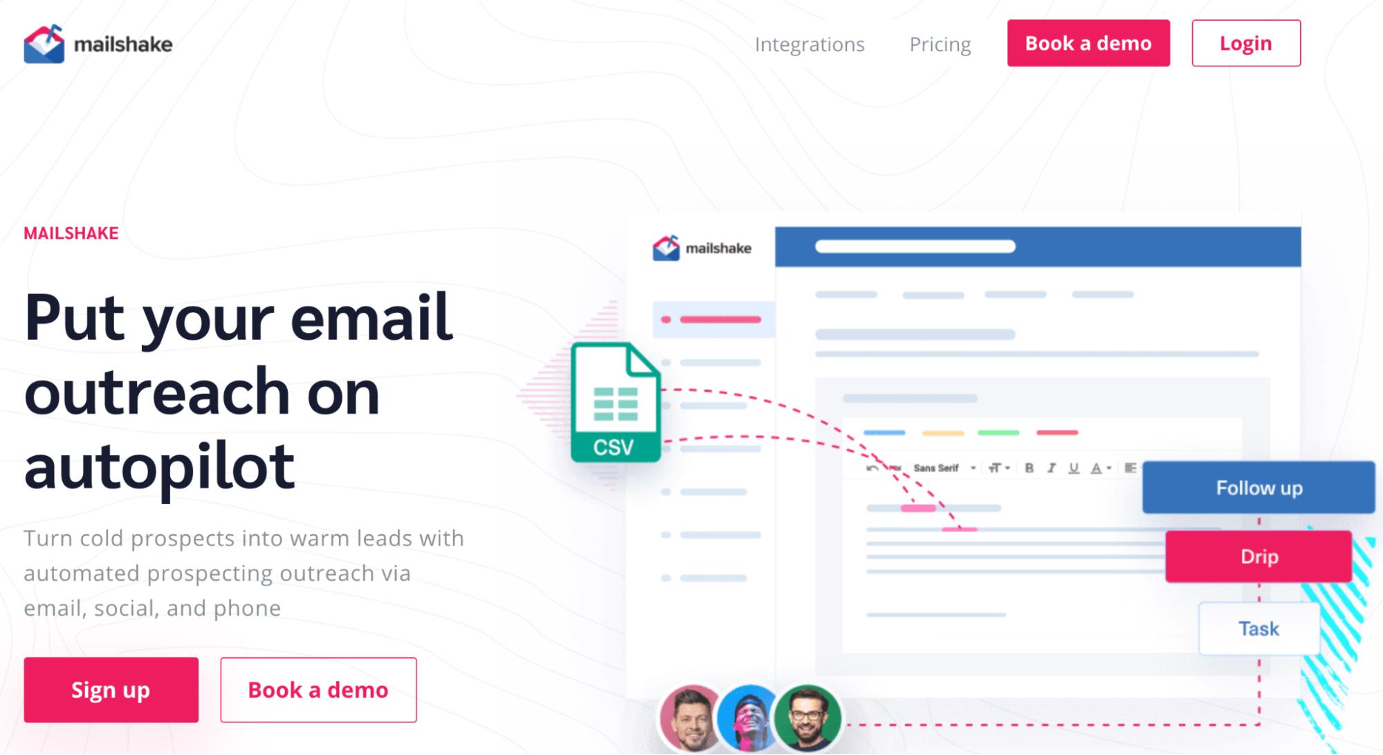 SaaS Marketing Automation Tools: Mailshake Screenshot