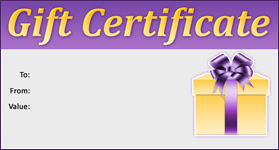 Gift Certificate Template Holiday 02