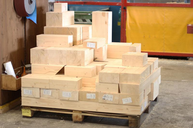 scarti di lavorazione legno lamellare per produzione tetti e case
