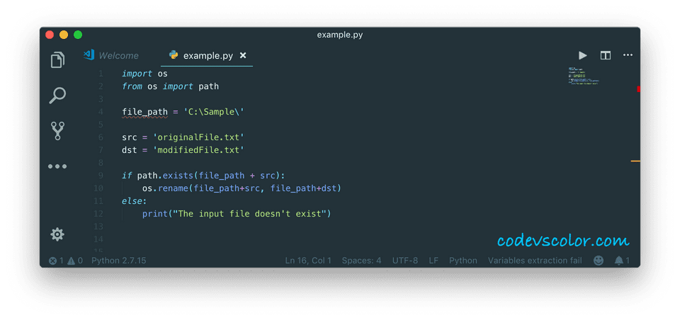 python rename file directory