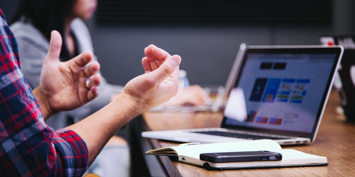 UI designer using empathy in their design process