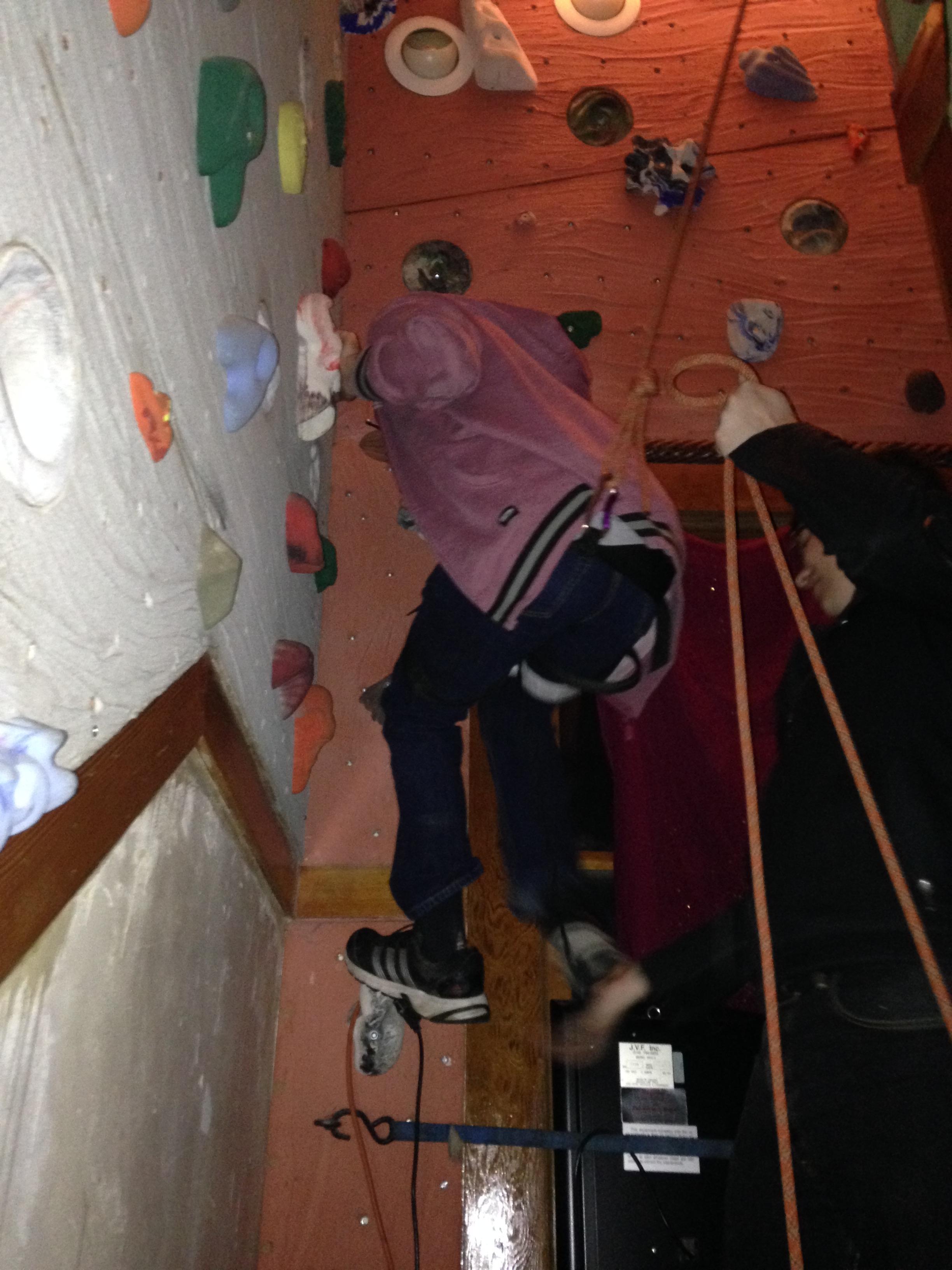 Bob Cavanaugh climbing climbing wall
