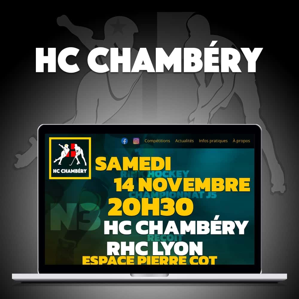 Capture d'écran du site du HC Chambéry