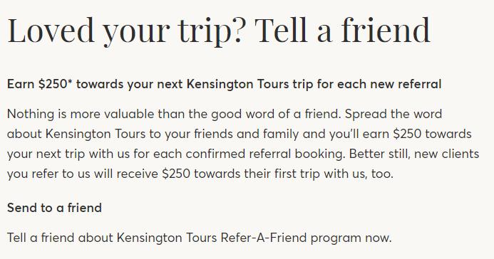Kensignton referral program