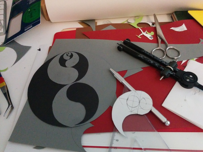 Making a recursive yin-yang