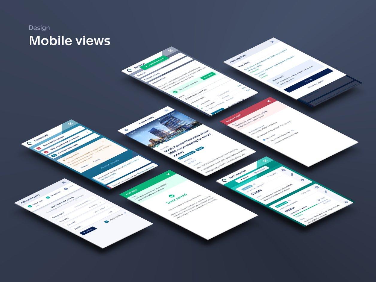 High Fidelity Mockups - UX Design | CapRaise