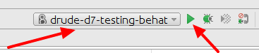 PHPStorm run Behat tests button