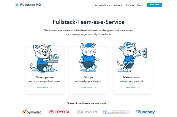Screenshot of Fullstack HQ