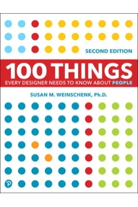 Book cover for 100 Things Every Designer Needs to Know About People by Susan M. Weinschenk