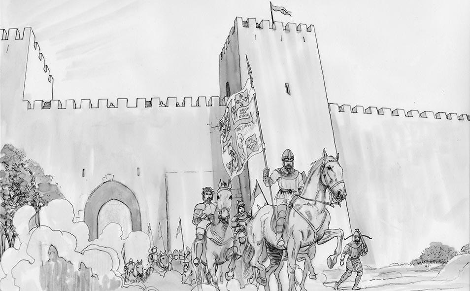 Atoleiros Battle animatic - Portuguese relief army conducted by Nuno Álvares Pereira