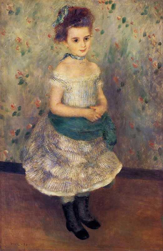 'Jeanne Durand Ruel', by Pierre Auguste Renoir in 1876