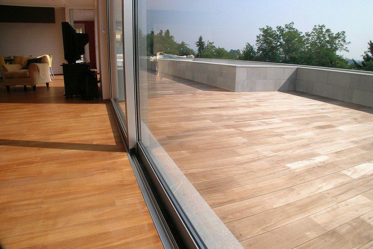 parquet e decking continuità tra interno ed esterno