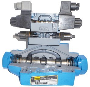 A two-stage directional valve