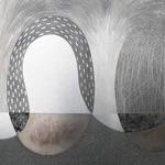 "Aiwars Benuz, Latvia. ""Eggs"" 1977. Steel, etching, 56x91cm"