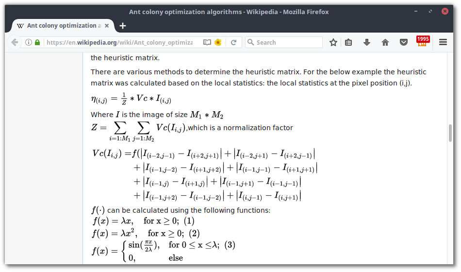Mathematical formulas on Wikipedia