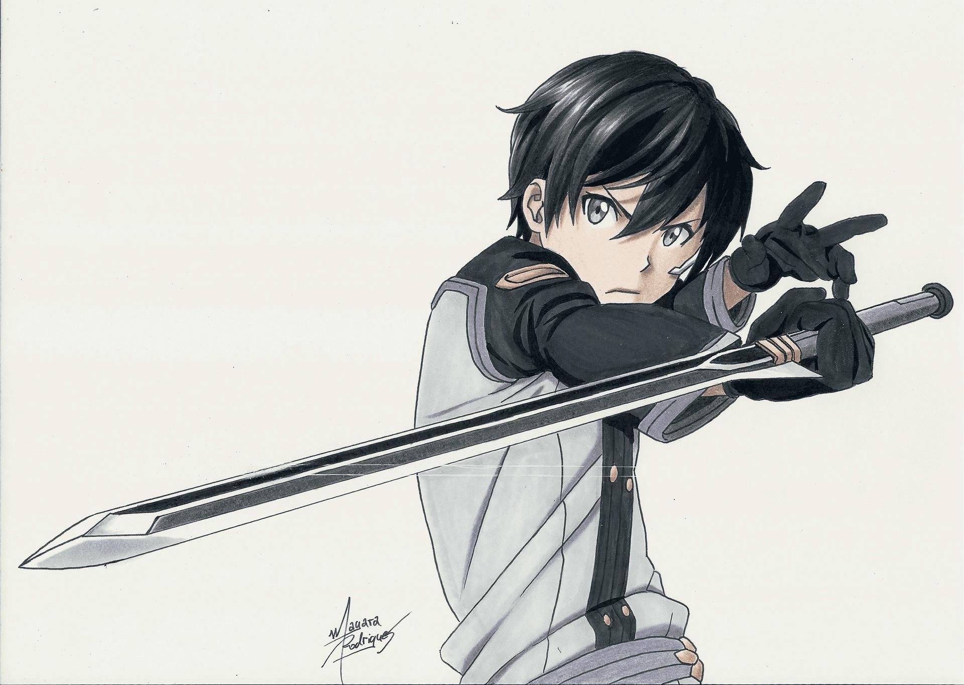 Desenho do Kirito