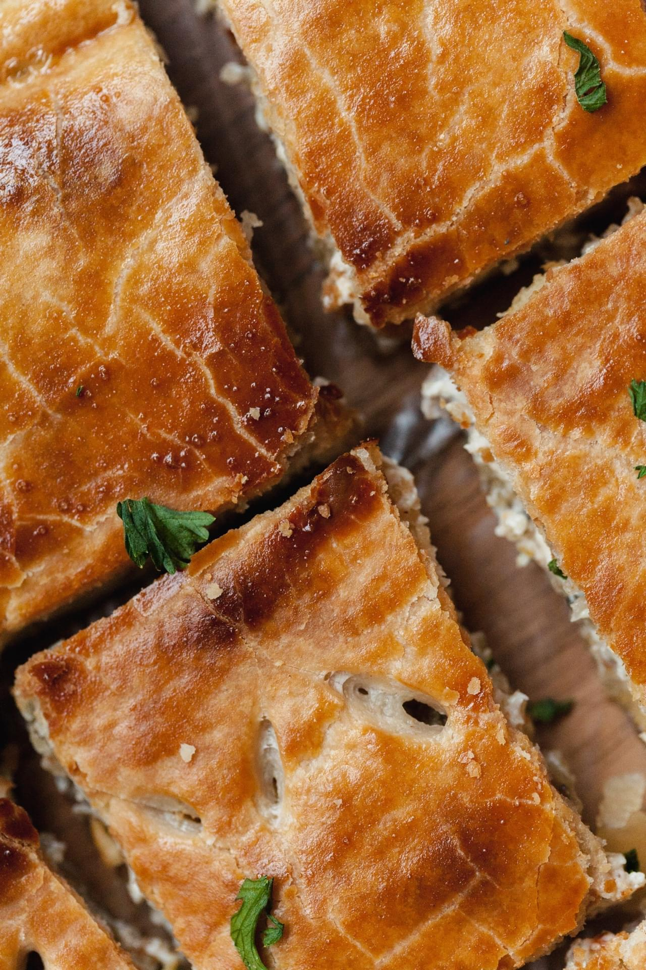 Cheesy Sausage Stuffed Puff Pastry Appetisers