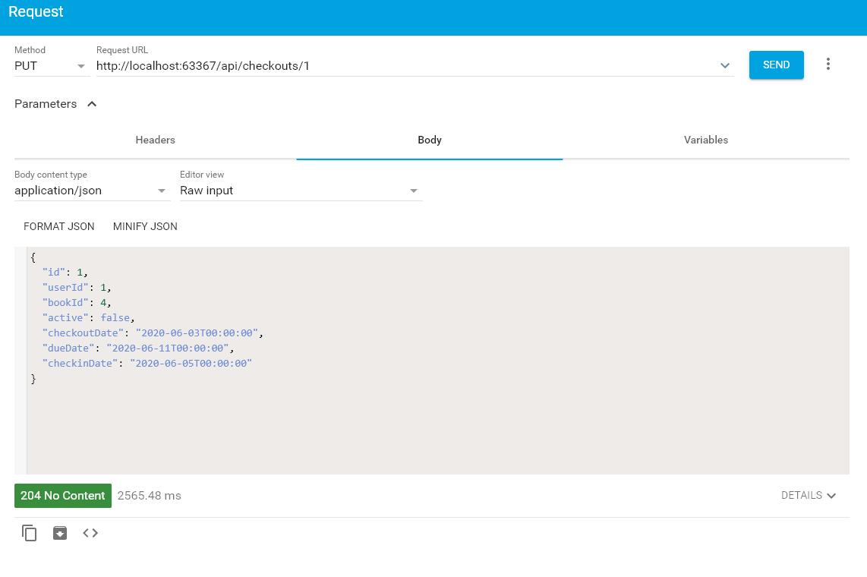 API Test Checkout