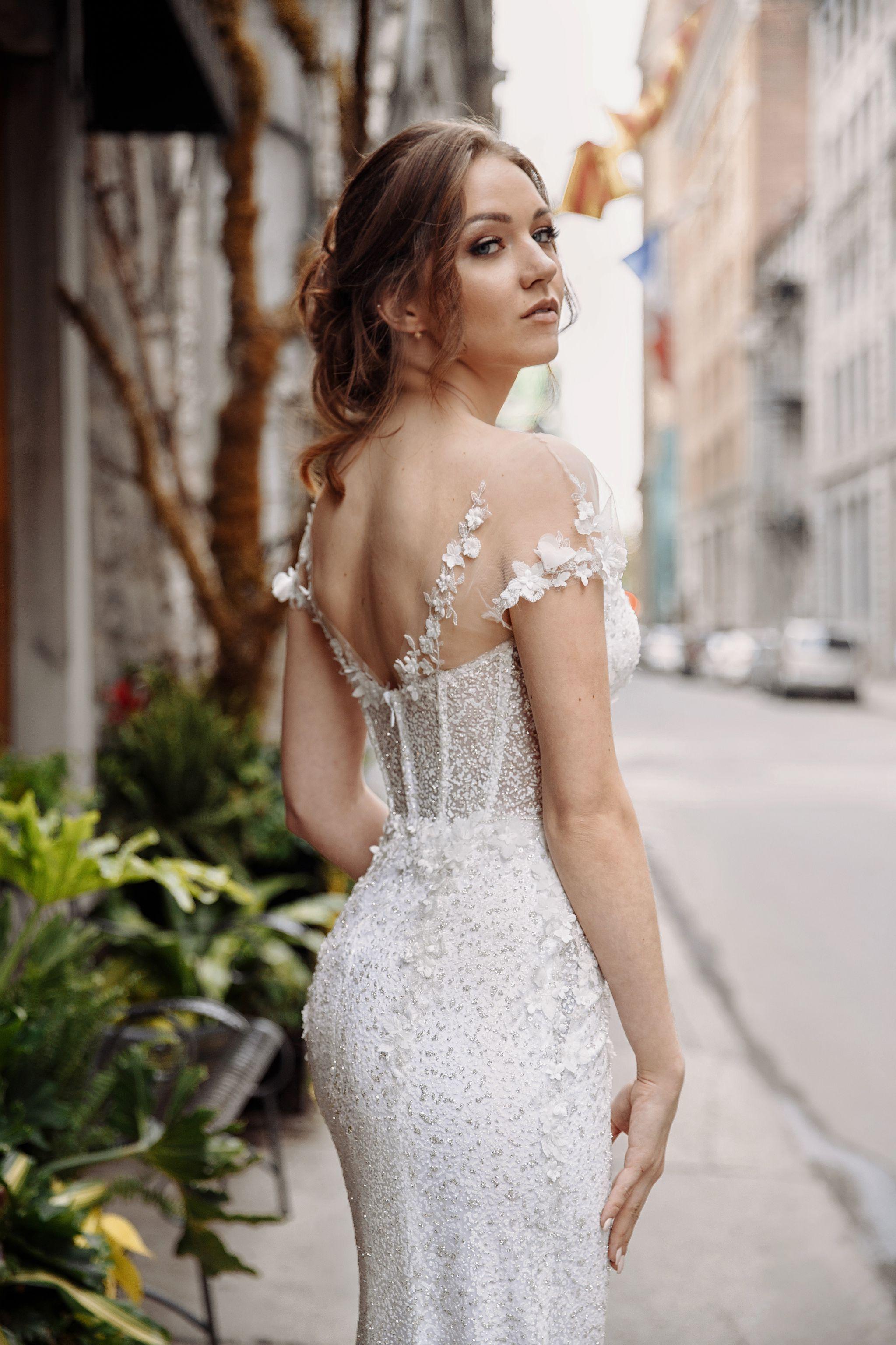 custom made designer wedding dress montreal lilia haute couture