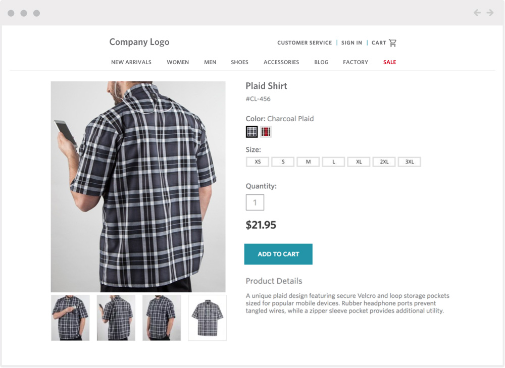 ecommerce clothing mock up