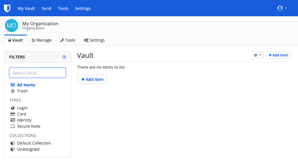 Organization Vault