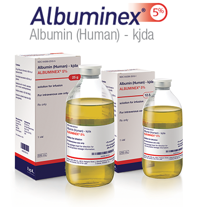 Now available — Albuminex 5%