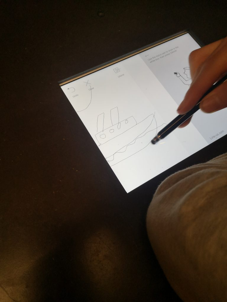 Drawing an image on to a tablet ready for the robot to draw