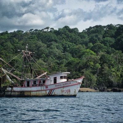 An old boat in Corcovado National Park