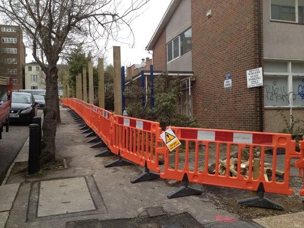 Street works barriers