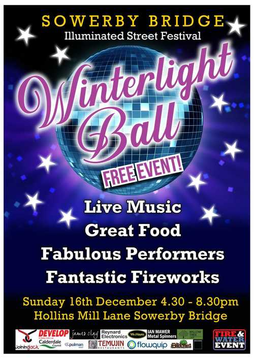 Winterlight Ball Illuminated Street Festival 2018 Sowerby Bridge